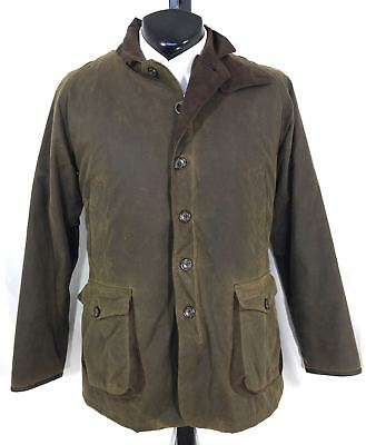 "Barbour ""Driver"" Green Waxed Cotton Jacket US  XXL"