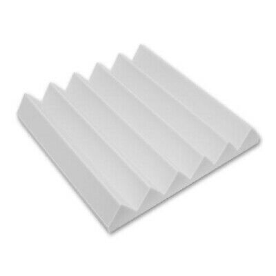 """Wedge foam acoustic - White Studios Sound Absorption Wall  2""""X 12""""X 12"""" 6 Pack"""