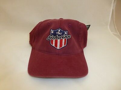 Schwinn 1895 Bicycle Hat Maroon Embroidered Baseball Cap Flexfit S/M or L/XL