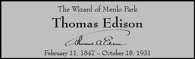 Thomas Edison Custom Laser Engraved 2 x 6 inch Plaque FREE SHIP