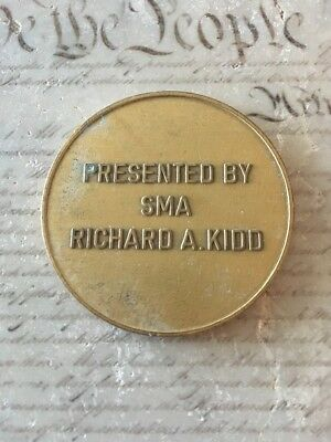 SMA Richard Kidd 9th Sergeant Major of the Army 1991 1995 Challenge Coin