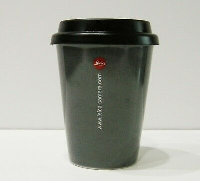 LEICA Logo Ceramic Coffee Tea Cup with Durable Lid - in Lens Shape