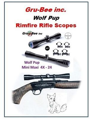 "3/4"" TUBE, RIMFIRE 4X rifle scope - GruBee Wolf Pup Duplex Reticle ..."