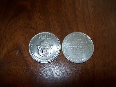 Vintage Smokey Bear  Coin  Please! Only You Can Prevent Forest Fires Coin