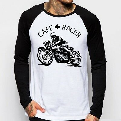Cafe Racer classic Motorcycle triumph norton enfield baseball t-shirt FN9168