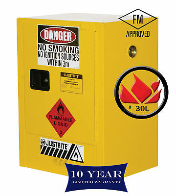 30L Dangerous Goods Storage Flammable Liquid Safety Cabinet 10 Yr Wty FireResis