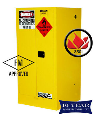 350L Dangerous Goods Storage Flammable Liquid Safety Cabinet 10 Yr Wty FireResis