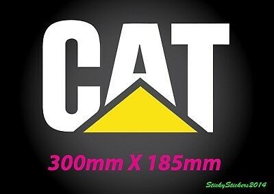 PACK 2 CATERPILLAR STICKER  CAT DECAL LARGE  Machinery Truck 4WD 4x4 Sticker