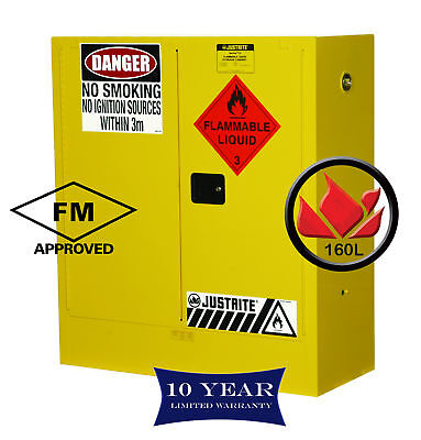 160L Dangerous Goods Storage Flammable Liquid Safety Cabinet 10 Yr Wty FireResis