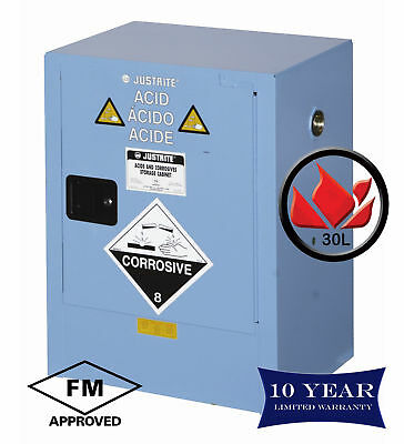 30L Dangerous Goods Storage Corrosive Chemical Safety Cabinet 10 Yr Warranty