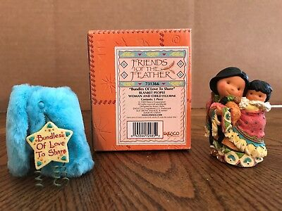 """Enesco Friends Of The Feather """"Bundles Of Love To Share"""" Blanket People  731366"""