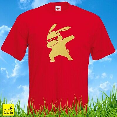 Dabbing Bunny Novelty T-Shirt Funny Hip Hop Dab Dance Easter Gift YouTube Tee