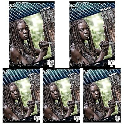 5x FALLOUT BLUE WAVE 3 MICHONNE Topps Walking Dead Trader Digital Card