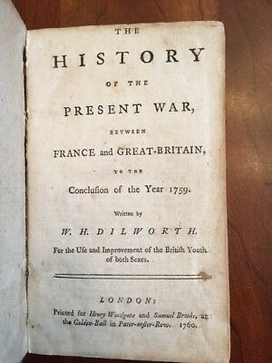 SCARCE 1760 History War Between France and Great Britain ENGLAND, London, 1st ed