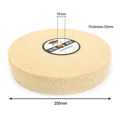 "10"" 250mm Nylon Fiber Polishing Wheel Abrasive Buffing Disc Pad for Metal 5P"