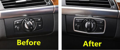 Console Front Head Light Switch Cover Trim for BMW X5 E70 2007-2013/X6 E71 08-14