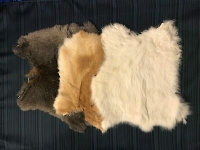 Rabbit Pelt Genuine Leather Fur - Various Colors to chose from