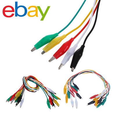 10 Pcs Colorful Double Ended Alligator Clips Test Lead Jumper Wires PBX