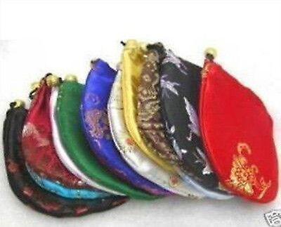 WHOLESALE 5pcs China Silk Jewelry Pouches