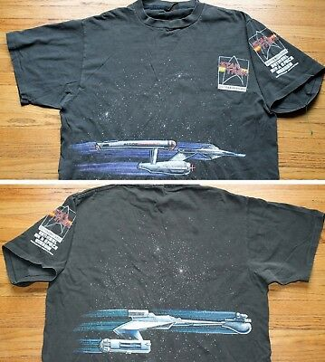 1991 Star Trek Enterprise 25th Anniversary Shirt Vintage Mens XL Rare Kirk Spock