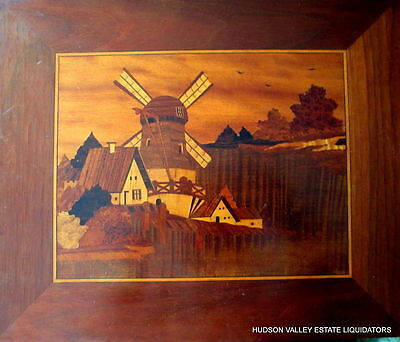 FINE ESTATE INLAID MARQUETRY DUTCH WALL PANEL - PLAQUE  19th - 20th Century -