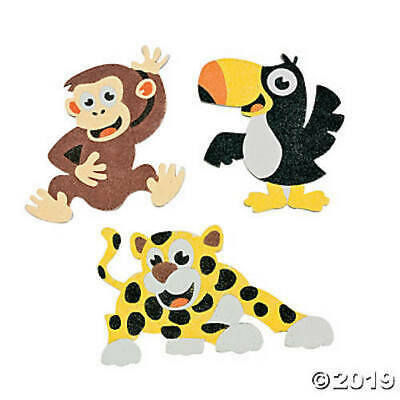 Safari Jungle Animals Children's Kids Sand Art Craft Kits Packs Party Favours