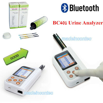 Portable 11parameter Urine Analyzer BC401 USB +Bluetooth +Test Strips 2.4' USA