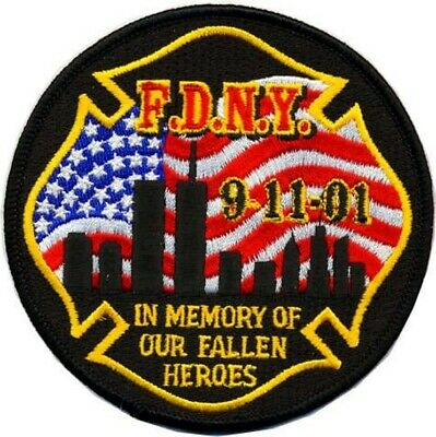 "Memorial Patch 9-11-01 ""In Memory of our fallen heroes..."""