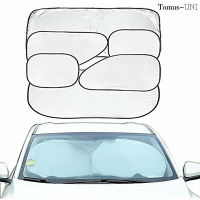 6 Piece Car Window Sunshade Protector Foldable Windshield UV Reflector Keeps