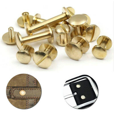 Arc Belt Screw Leather Craft Chicago Nail Brass Solid Rivets Stud Spare parts AU
