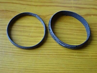 Lot of 2 Authentic Celtic Bronze Wedding Rings Circa 100 BC - 200 AD Very Rare