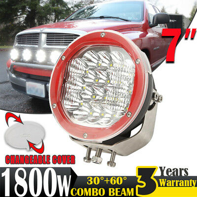 7inch 1800W LED CREE Driving Light Work SPOT Lamp Offroad Headlight 4x4WD VS HID