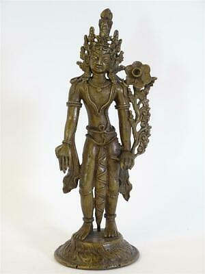 Antique Bronze Figure Sculpture Deity Indian Mythology India Asian Art 21,5cm