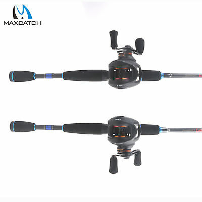 Baitcasting Fishing Rod Reel Combos Right/Left Handed 4Pcs Baitcaster Rod & Reel