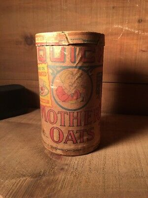 Vintage Quaker Oats Company Quick Mothers  Oats Container Free China Offer