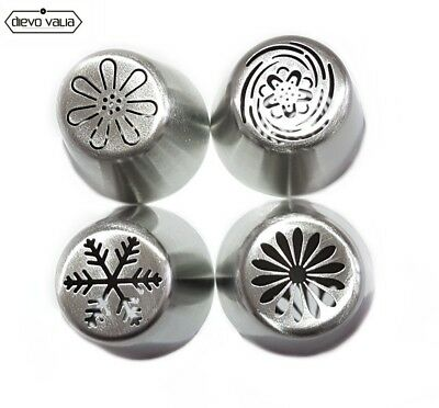 Russian Piping flower tips- set of 4 nozzles for cupcake/cake decorating
