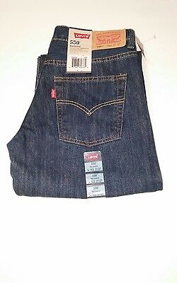New Levi 550 Boy's Jeans Size 14 Reg 27X27 Relaxed Tapered Leg Sits Below Waist