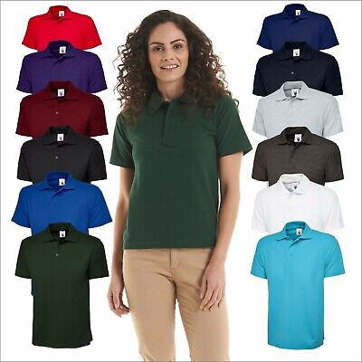 New Mens & Womens Active Pique Polo Shirt Size XS - 6XL Sport Work Leisure Wear