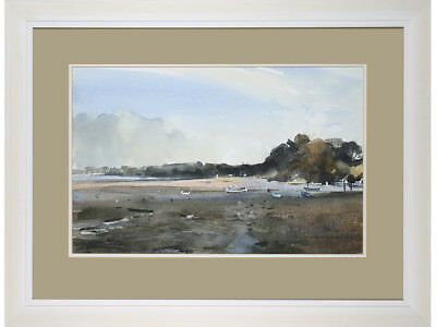 River Orwell, Suffolk - Jeff Harpham, original watercolour signed painting