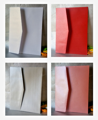 10/30/50 Envelope for Invitations Cards 13.5 x 18.7 cm - Pink, Red, White, Grey