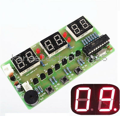 NEW C51 6 Bits Digital Electronic Clock Electronic Production Suite DIY Kits