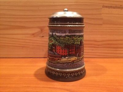 Collectible   OLYMPIA BREWING COMPANY GERZT GERZ LIDDED BEER STEIN  WEST GERMANY