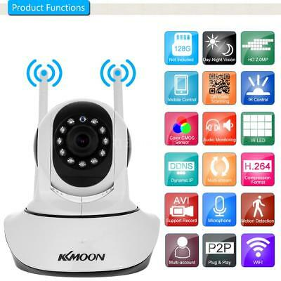 "KKmoon 1080P WIFI HD PTZ IP Camera 2.0MP 1/2.7"" CMOS 3.6mm Lens 2-way Audio APP"