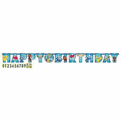 Pokemon Add-an-Age Happy Birthday Letter Banner