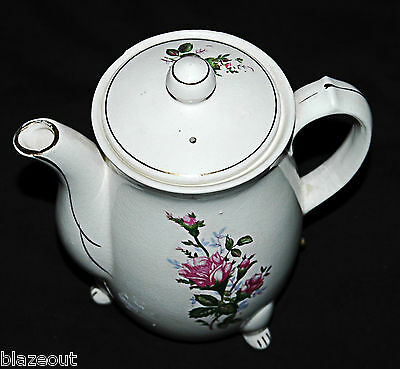 Japanese Tea Pot  Flower Electric Made in Japan Antique Beauty (Untested 250V)