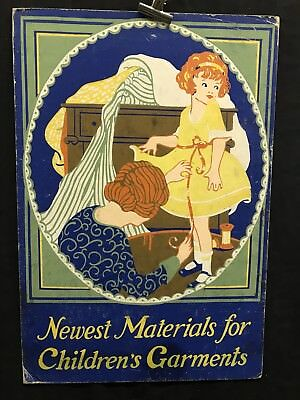 1930s Vintage Original Children's Clothing Material Advertising Poster Signboard