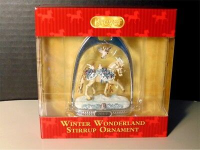 Breyer 2017 Winter Wonderland Holiday Stirrup Ornament NIB