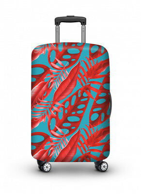 Luggage Cover Travel Suitcase Protector Elastic Protective VELOSOCK Red Forest