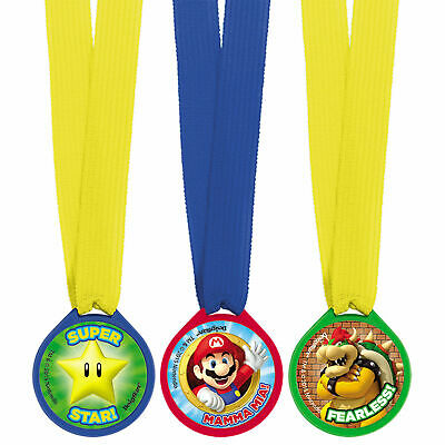 Mario Mini Award Medals 12 Per Pack