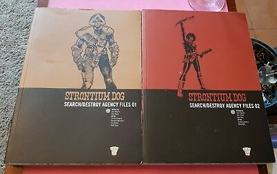 Strontium Dogs Vol 1 & 2 - 2000Ad Wagner Grant Comics Graphic Novel British Lot